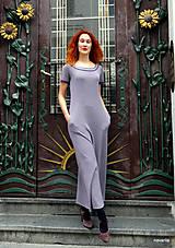Šaty - Marina-bavlněné maxi šaty s kapsami - 12084803_