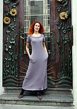 Šaty - Marina-bavlněné maxi šaty s kapsami - 12084804_