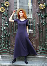 Šaty - Marina-bavlněné maxi šaty s kapsami - 12084807_
