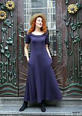 Šaty - Marina-bavlněné maxi šaty s kapsami - 12084808_