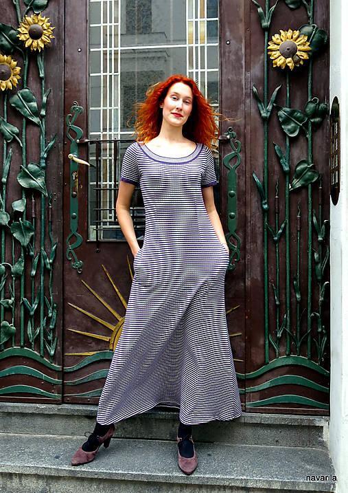 Marina-bavlněné maxi šaty s kapsami
