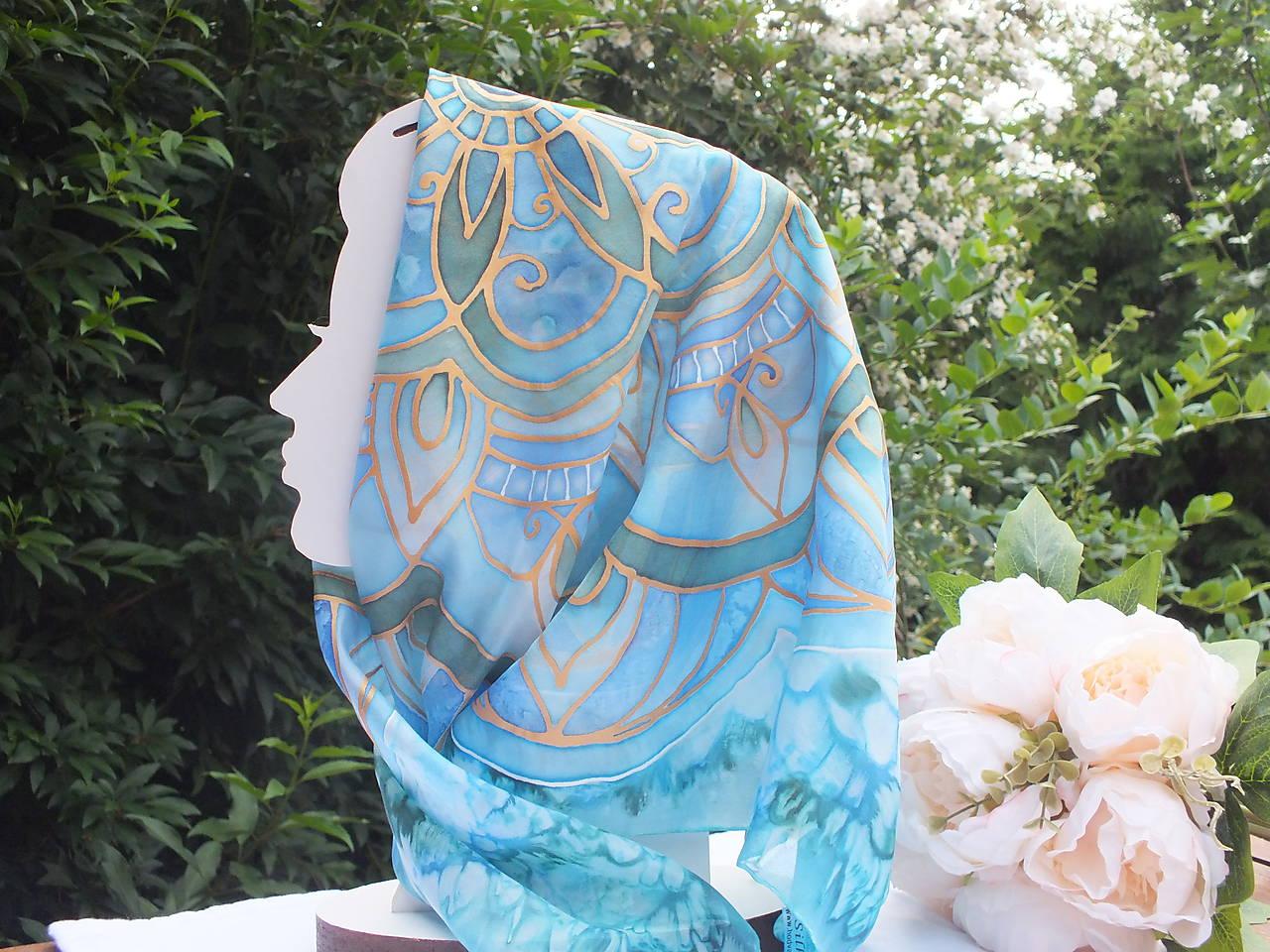 Hodvábna šatka - Mandala