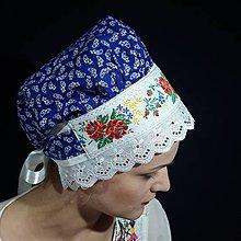 Iné doplnky - Modrý bavlnený čepiec - 12086861_