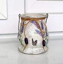 Svietidlá a sviečky - levanduľový lampášik - 12087611_