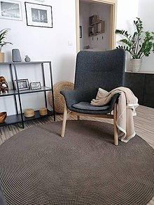 Úžitkový textil - Háčkovaný koberec coffe - 12084901_