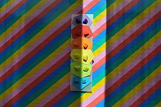 Náušnice - Set mini náušníc | rainbow | minimal geometria - 12088129_