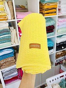 """Textil - Letná deka pre bábätko,""""Dots"""", OEKO-TEX® - Žltá - 12089159_"""