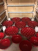 Nádoby - Hlboké taniere v červenom prevedení priamo z pece - 12088613_