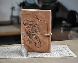 Papiernictvo - kožený zápisník EAGLE - 12090022_