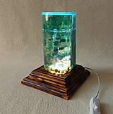Svietidlá a sviečky - Stolná lampa Pod hladinou, nad hladinou - 12088976_
