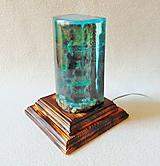 Svietidlá a sviečky - Stolná lampa Pod hladinou, nad hladinou - 12088979_