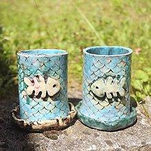 Nádoby - Keramický kvetináč rybia kosť - 12089825_