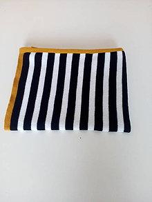 Úžitkový textil - Detská pletená deka - 12088847_