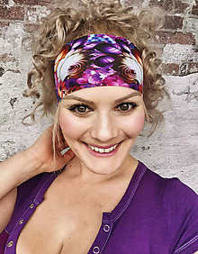 Ozdoby do vlasov - Outdoorová, funkčná čelenka Krasomil - 12088144_