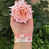 Náramky - Náramok na ruku Cik Cak kvety - 12089092_