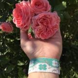 Náramky - Náramok na ruku Cik Cak kvety - 12089099_