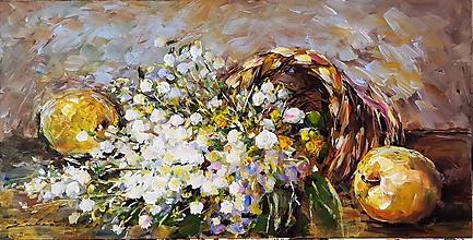 Obrazy - Konvalinky s citrónom a jablkom - 12088163_