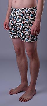 Oblečenie - Love triangle 2ks pánskych treniek biobavlna - 12090520_