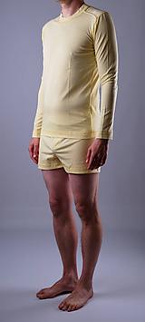 Oblečenie - Pyžamo biobavlna: trenky a nátelník dlhý rukáv - 12090584_