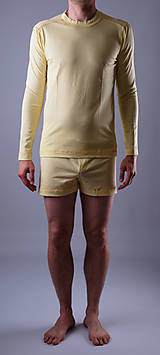 Oblečenie - Pyžamo biobavlna: trenky a nátelník dlhý rukáv - 12090585_