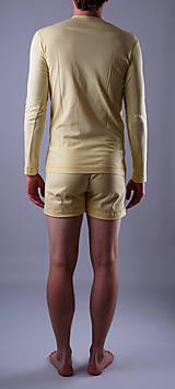 Oblečenie - Pyžamo biobavlna: trenky a nátelník dlhý rukáv - 12090589_