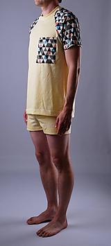 Pyžamo biobavlna: trenky a tričko krátky rukáv