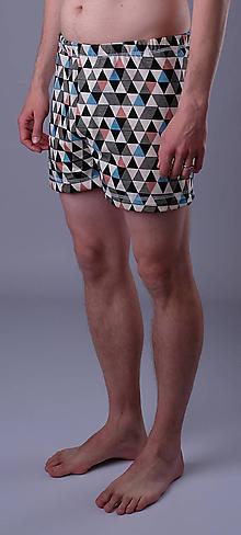 Oblečenie - Love triangle 3ks pánskych treniek biobavlna - 12090500_