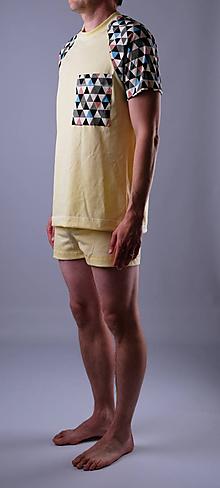 Oblečenie - Pyžamo biobavlna: trenky a tričko krátky rukáv - 12090602_