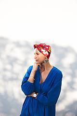 Čiapky - Turban Knot Flower PINK - 12090475_