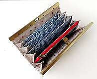 Peňaženky - Peňaženka s priehradkami Vlčie maky - 12090460_