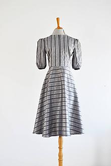 Šaty - Upcy šaty zo striebristej vintage bavlny - 12091007_