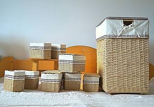 Košíky - Zostava košov do kúpeľne BARBORKA - 12089996_
