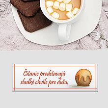 Papiernictvo - Záložka do knihy sladká (pomarančový bonbon) - 12089064_