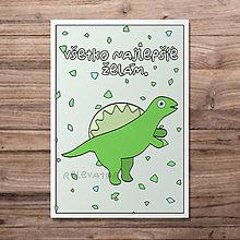 Papiernictvo - Dinosaurus - detská pohľadnica (spinosaurus) - 12090662_