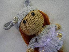 Hračky - mini bábika sivá - 12093116_
