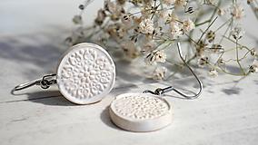 Náušnice - keramické náušnice č. 223_ čistota - 12092950_