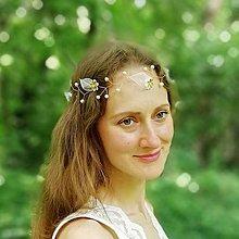 Ozdoby do vlasov - Perličkový venček Víla - 12093764_