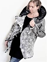 Kabáty - Dámsky plstený kabát šedý - 12094324_