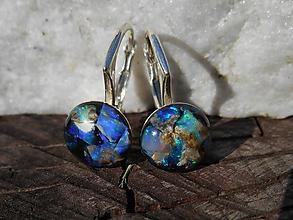 Náušnice - opals-in silver-naušnice-dear opal - 12092584_
