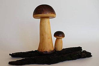Dekorácie - Drevené hríby - 12091497_