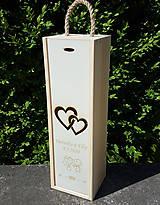 Dekorácie - Svadobný dar vínový obal - 12094320_