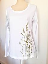 Tričká - Tričko maľované - trávy - 12092164_