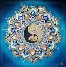 Obrazy - Strom života....Smaragdová harmónia - 12091948_
