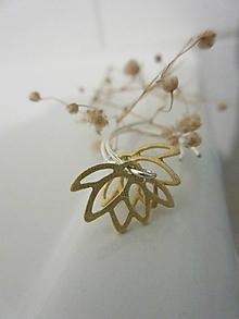 Náušnice - Lotusky zlaté - 12094210_