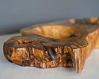 Nádoby - Unikátna drevená dvoj misa z dubového masívu - 12093968_