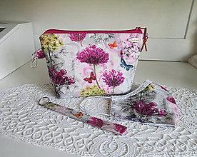 Taštičky - Taštička lúčne kvety - 12094087_