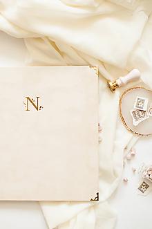 """Papiernictvo - Luxusná svadobná kniha hostí """"N"""" - 12093775_"""