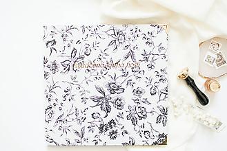 """Papiernictvo - Svadobná kniha hostí """"floral"""" - 12094175_"""