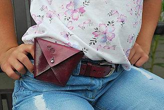 Detské tašky - DODO SET kapsička na opasok dievčenské - 12091895_