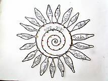 Dekorácie - Slnko pre pani učiteľku  (40 - 42 cm) - 12093268_